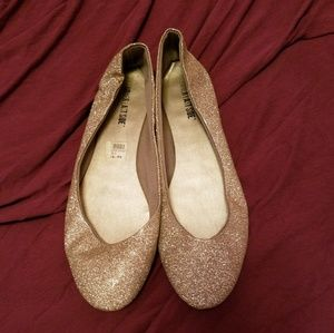 3 for $15*gold sparkle shoes